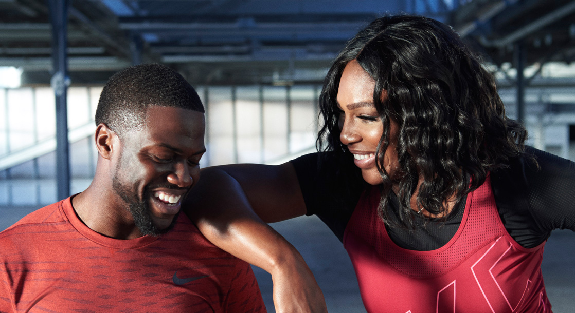 Kevin Hart & Serena Williams Create A Workout For The Nike+ Training App