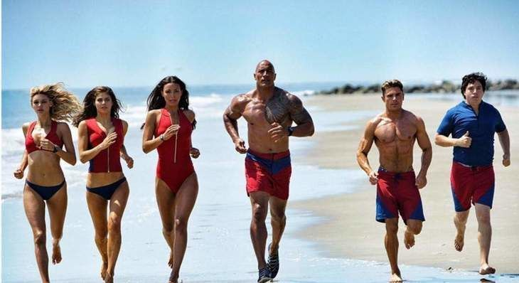 "The Rock Leads The Way In R-Rated ""Baywatch"" Movie"