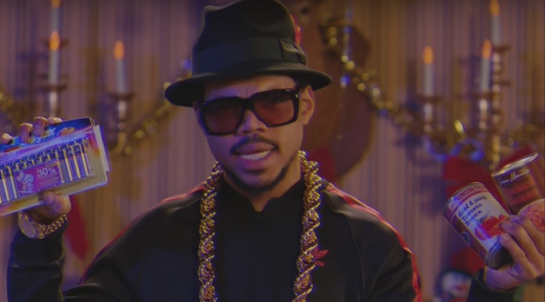 "Chance the Rapper Brings Christmas Cheer in ""SNL"" Run DMC-Inspired Obama Tribute"