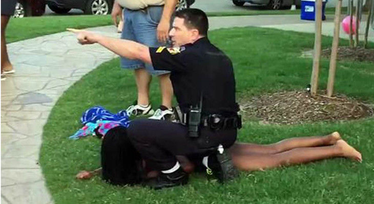 Girl pushed by Texas officer at 2015 pool party sues for $5M
