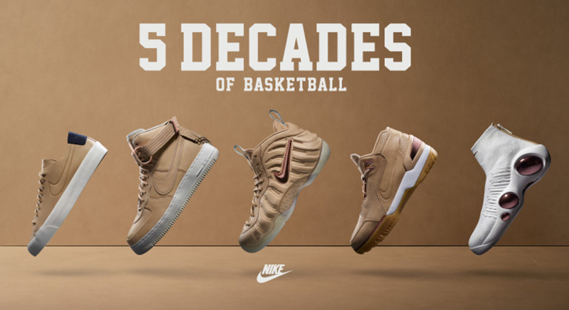 "Nike and Kith Celebrate Hoops and Style with ""5 Decades of Basketball"" Pack"