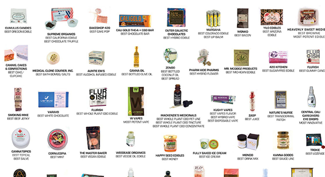 A Look at the Most Mouth-Watering Weed Products from the Edibles List Awards