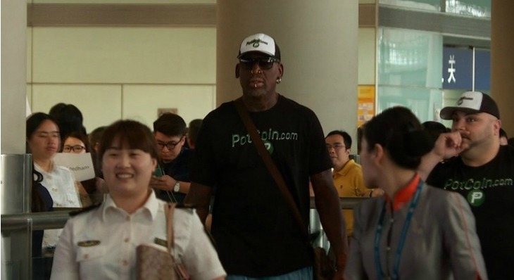 Dennis Rodman's Latest Trip to North Korea Is Sponsored by PotCoin, a Cannabis Crypto-Currency