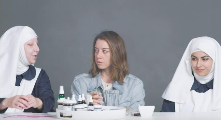 Watch Aubrey Plaza Get Blazed With California's Weed Nuns