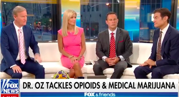 """Dr. Oz Calls Out the """"Hypocrisy Around Medical Marijuana"""" on """"Fox and Friends"""""""