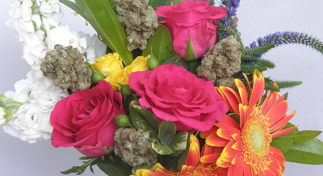 Flowers on Flowers Arranges Blossoms with Bud for Charity