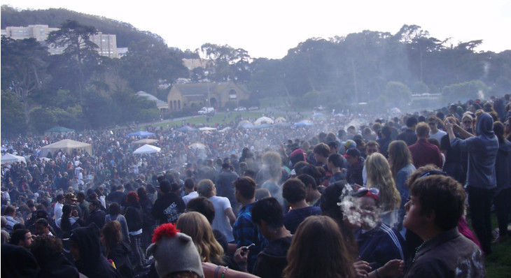 Researchers Study Dangers of Secondhand Cannabis Smoke, Cite San Francisco's 4/20 Party
