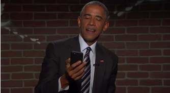 """Barack Obama Reads """"Mean Tweets"""" on Jimmy Kimmel Live!, Proceeds to Diss Trump"""