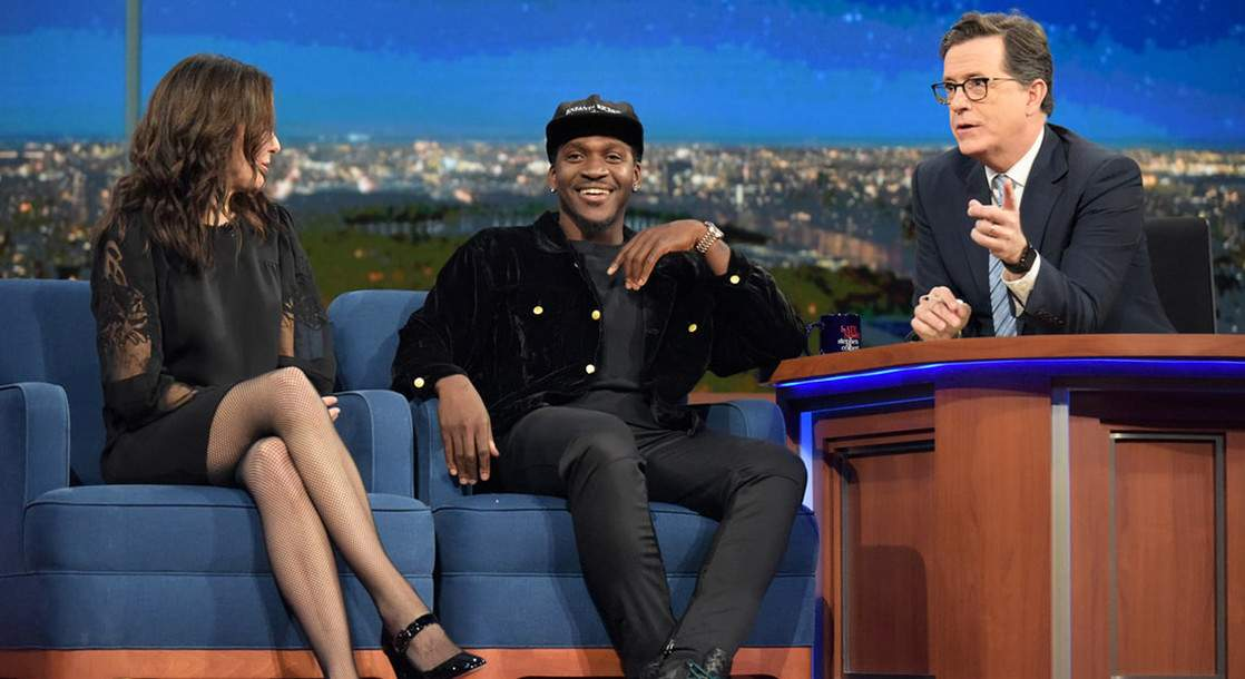 Pusha T Talks to Stephen Colbert About Voting Rights for Felons