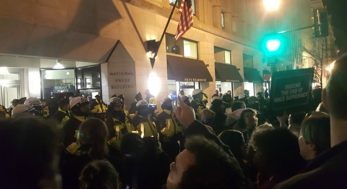 """Protestors Pepper Sprayed Outside of """"DeploraBall"""" Inauguration Party"""