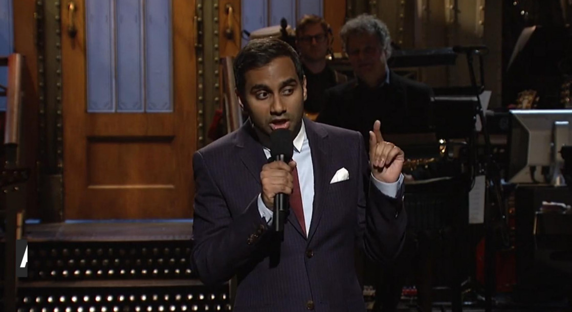 """Aziz Ansari Calls Out """"Casual White Supremacists"""" on SNL"""