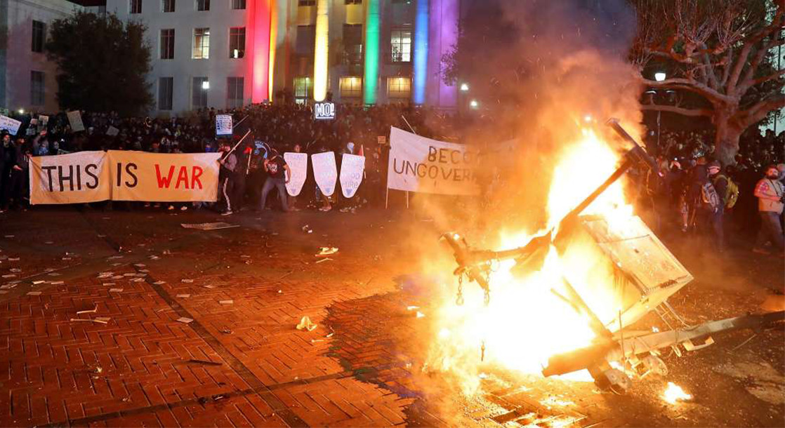 Violent Protests Erupt On UC Berkeley Campus, Cancelling Speech By Alt-Right Leader Milo Yiannopoulos