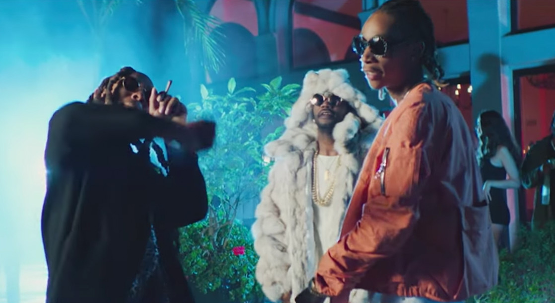 "Juicy J Rolls Up With Wiz Khalifa & Ty Dolla $ign In Hazy Music Video For ""Ain't Nothing"""