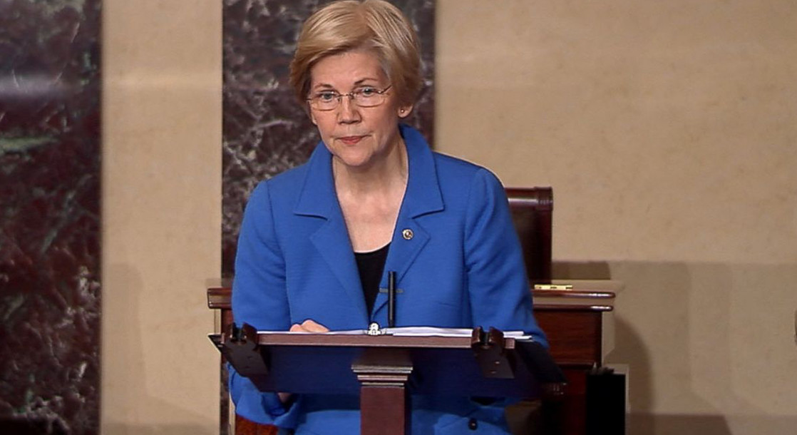 Elizabeth Warren Silenced By Senate For Reading Letter From Corretta Scott King Condemning Jeff Sessions