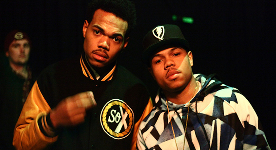 An image of Chance the Rapper and his brother Taylor Bennett via FACT Magazine.