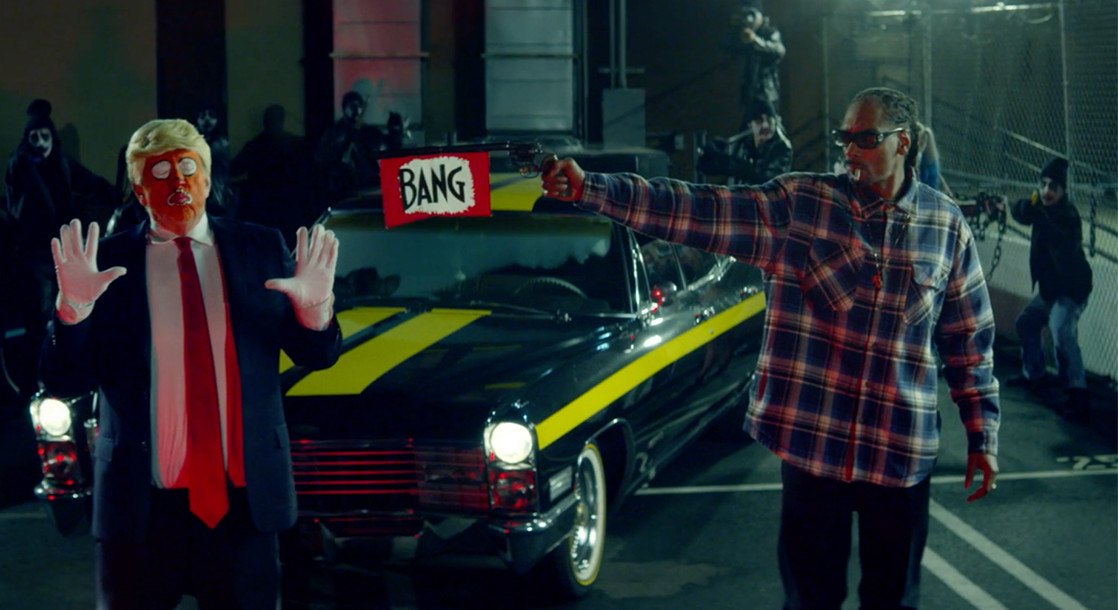 """Snoop Dogg Pulls Gun On Clown Trump in Politically Charged """"Lavender"""" Visual"""