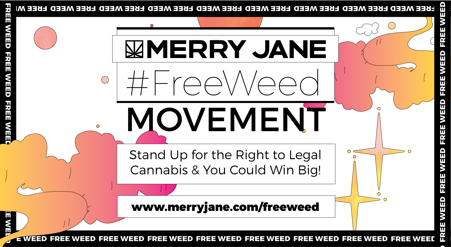 Sign our petition & speak up for legal cannabis on your social feeds, and you could win big this hazy holiday.