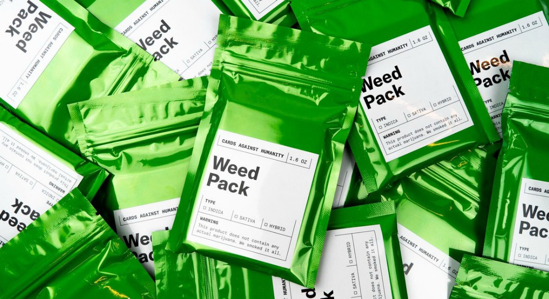 """""""Cards Against Humanity"""" Is Raising Money to Legalize Cannabis with a """"Weed Pack"""" Game Addition"""