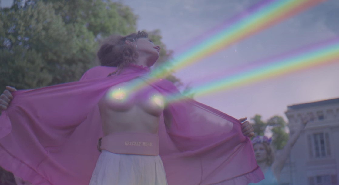 "Laser Beams and Male Buttocks Grace Grizzly Bear's Surreal ""Mourning Sound"" Music Video"