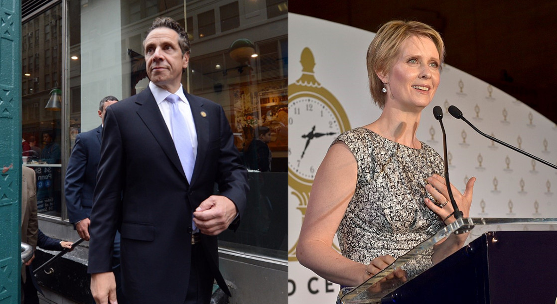 Andrew Cuomo and Cynthia Nixon Talk Legal Weed in New York Governor's Race Debate