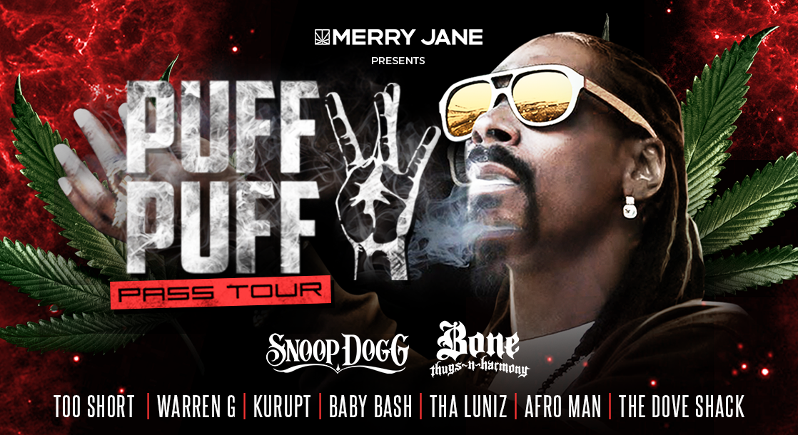 Catch Snoop Dogg on the 2018 Puff Puff Pass Tour — Presented by MERRY JANE