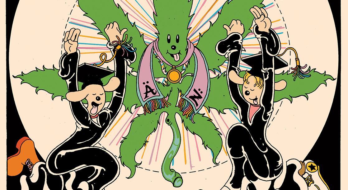 Frisbee F.D. Celebrates Ganja-Friendly Graduates in This Week's Comic