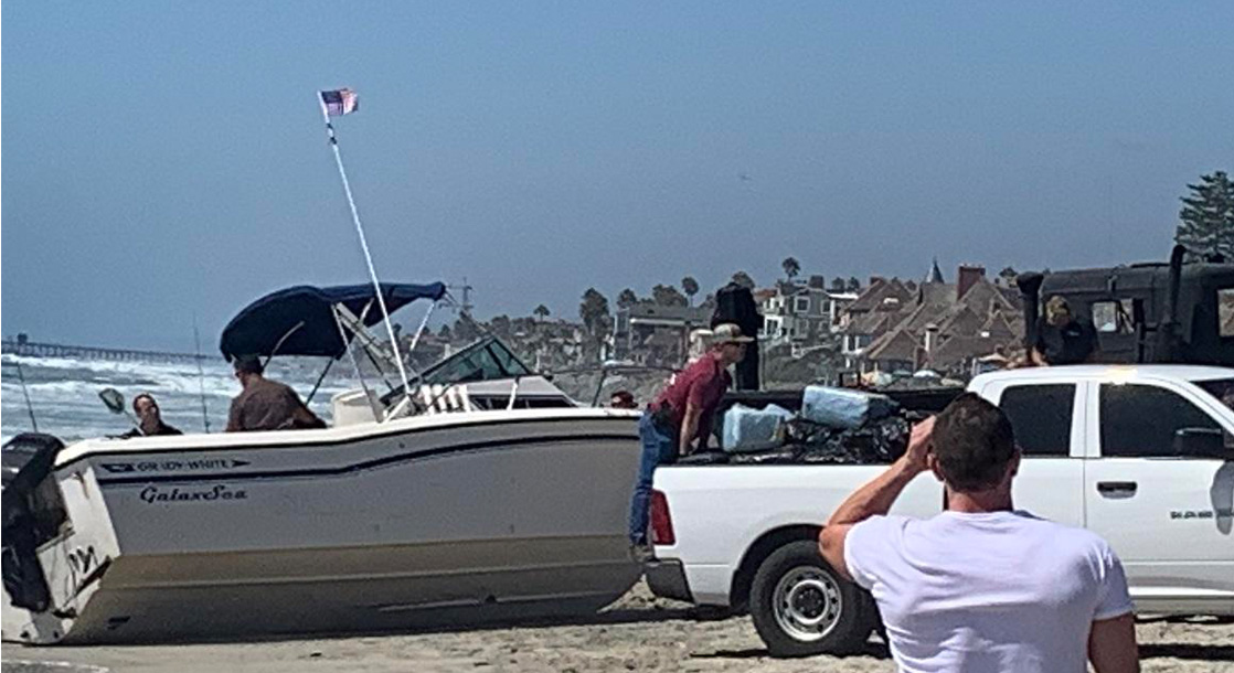 Mystery Boat Full of Smuggled Weed Washes Ashore in San Diego
