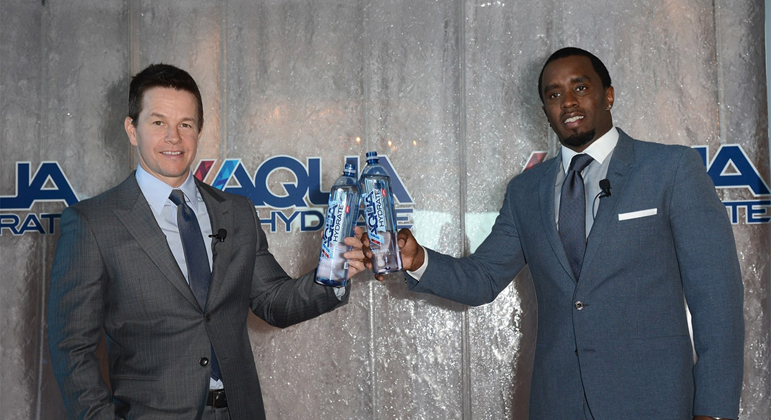 Mark Wahlberg and Diddy Are Selling CBD Fitness Water
