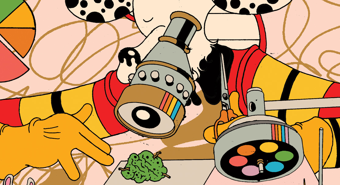 Frisbee F.D. Teaches Us How to Trim Fresh Nug in This Week's Weed Comic