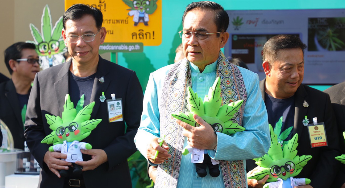 Thailand's Prime Minister Puffs Weed Vape at Medical Marijuana Press Conference