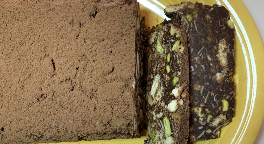 Baked to Perfection: Get Stoned Italian Style with This Chocolate Pistachio Brick Cake