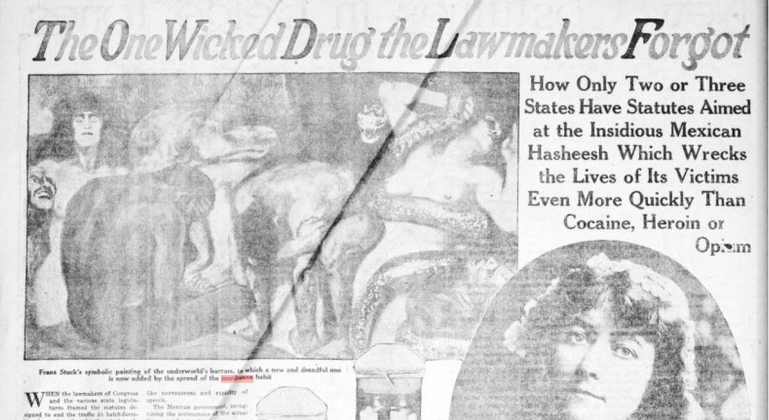 Library of Congress Compiles Racist Cannabis Propaganda From the 20th Century