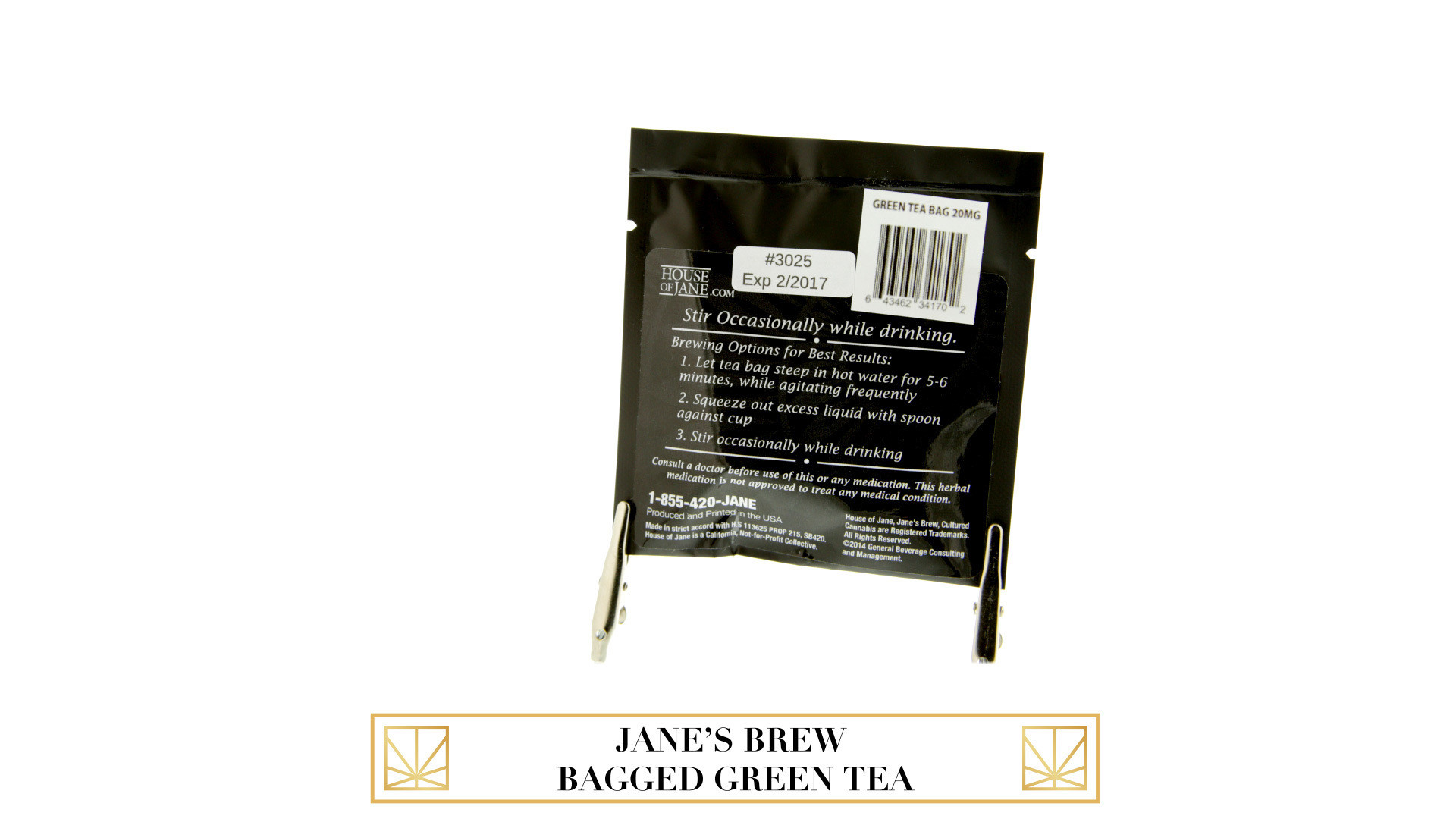 Jane's Brew Bagged Green Tea