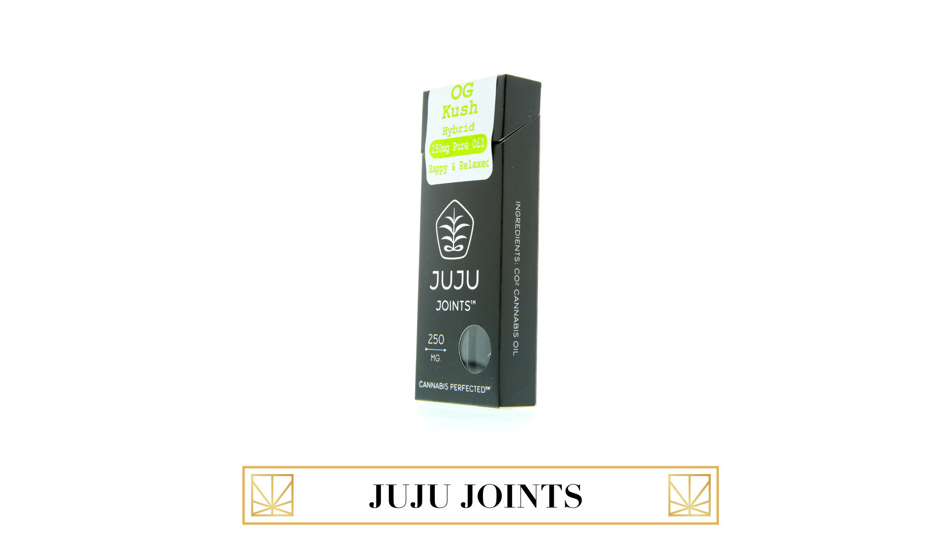 <p>Loaded, charged and ready to enjoy, JUJU Jointsare designed specifically for oil and produce low odor.Strain specific CO2concentrated THC oil.</p>